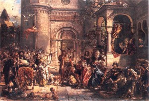 Przyjęcie Żydów w Polsce w 1096 (mal. Jan Matejko)